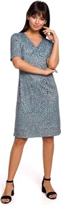 Sukienka MOE w stylu casual z dekoltem w kształcie litery v z krótkim rękawem