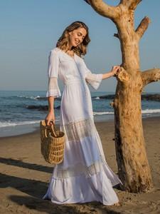 Sukienka L'AF maxi z tkaniny