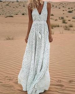 Sukienka Kendallme trapezowa w stylu boho maxi