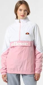 Różowa kurtka Ellesse krótka w sportowym stylu