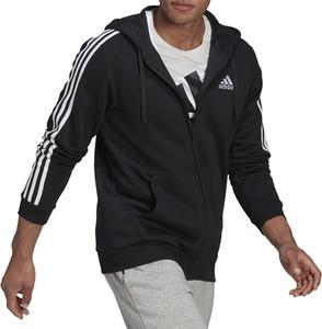 Czarna bluza Adidas z bawełny w sportowym stylu