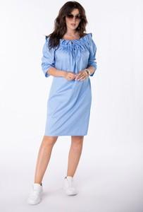 Sukienka Ptakmoda.com z okrągłym dekoltem w stylu casual