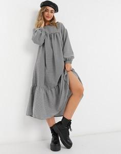 Sukienka Asos z długim rękawem koszulowa