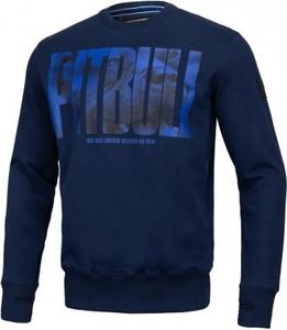 Granatowa bluza Pit Bull West Coast w młodzieżowym stylu z bawełny