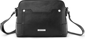 Czarna torebka Greenpoint matowa średnia na ramię