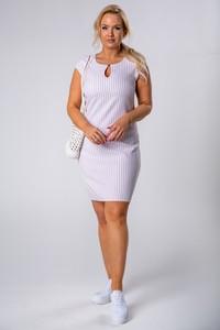Sukienka Ptakmoda.com z krótkim rękawem ołówkowa mini