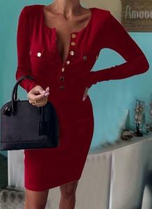 Sukienka Cikelly mini ołówkowa z długim rękawem