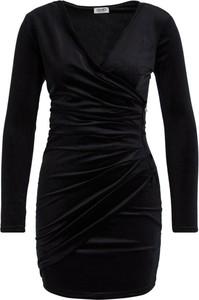Czarna sukienka Liu Jo White mini z długim rękawem w stylu casual
