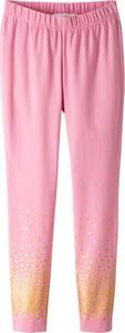 Różowe legginsy dziecięce bonprix bpc bonprix collection