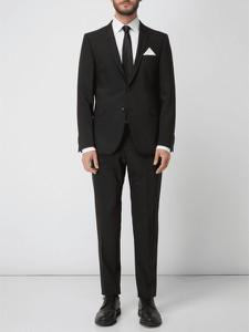 Czarny garnitur Strellson z wełny
