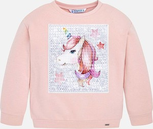 Różowa bluzka dziecięca Mayoral z długim rękawem