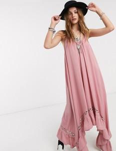 Sukienka Free People oversize na ramiączkach