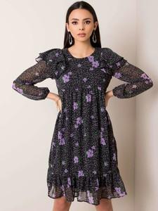 Sukienka Sheandher.pl mini z okrągłym dekoltem z długim rękawem