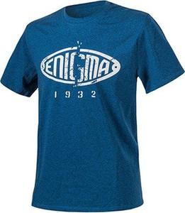 Niebieski t-shirt HELIKON-TEX z krótkim rękawem z bawełny