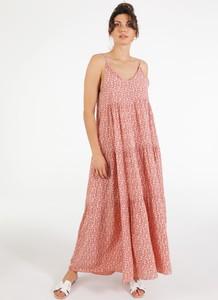 Sukienka Unisono maxi na ramiączkach