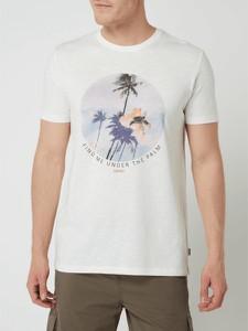T-shirt Esprit z krótkim rękawem z bawełny z nadrukiem