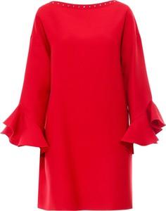 Sukienka Valentino w stylu casual z okrągłym dekoltem