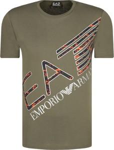 T-shirt Emporio Armani w młodzieżowym stylu z nadrukiem z krótkim rękawem
