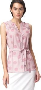 Różowa bluzka Nife bez rękawów