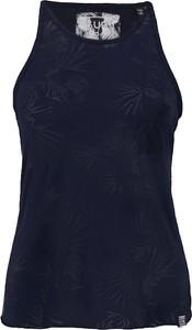 Niebieska bluzka Superdry bez rękawów z okrągłym dekoltem