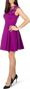 Różowa sukienka Ted Baker bez rękawów mini rozkloszowana