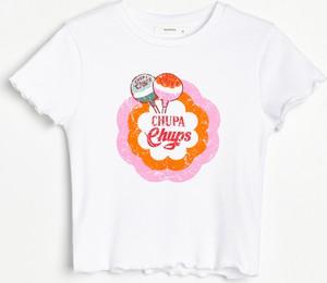 T-shirt Reserved w młodzieżowym stylu z bawełny