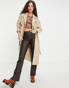 Płaszcz Only bez kaptura w stylu casual z wełny