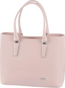 6fc2e8aaf2d7f Różowa torebka Prettyone na ramię w stylu glamour ze skóry ekologicznej