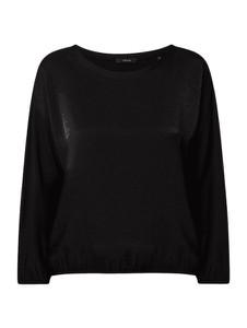Czarna bluzka Opus z długim rękawem z okrągłym dekoltem