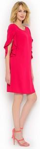 Karminowa sukienka z rozciętymi rękawami potis & verso kuga