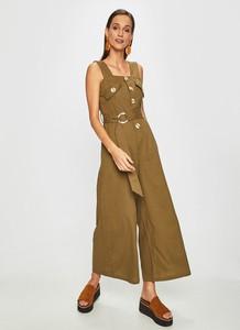 Zielony kombinezon Answear z tkaniny w stylu retro