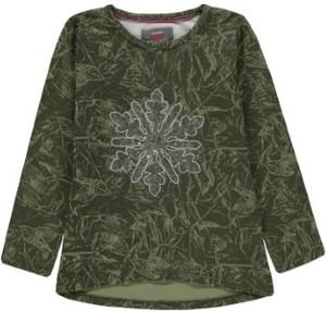 Zielona bluzka dziecięca Kanz z długim rękawem