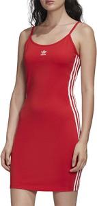 Czerwona sukienka Adidas mini