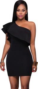 Czarna sukienka Estera dopasowana
