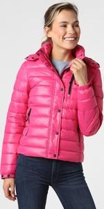 Różowa kurtka Superdry krótka