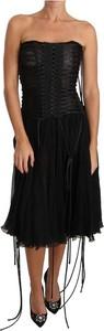 Czarna sukienka Dolce & Gabbana gorsetowa