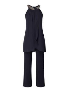 Granatowy kombinezon Vera Mont z długimi nogawkami