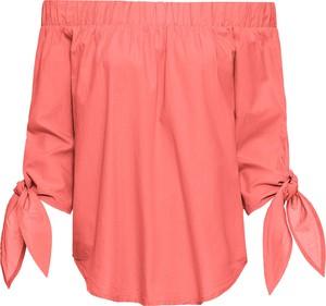 Pomarańczowa bluzka bonprix BODYFLIRT w street stylu z długim rękawem hiszpanka