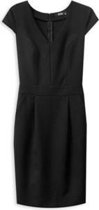 Czarna sukienka ECHO dopasowana
