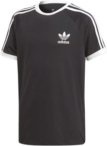 Koszulka dziecięca Adidas z bawełny z krótkim rękawem w paseczki