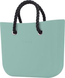 Zielona torebka O Bag matowa do ręki