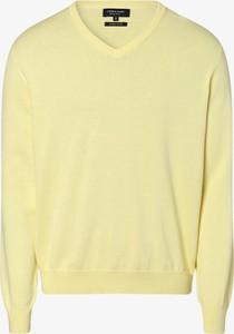 Żółty sweter Andrew James z bawełny w stylu casual