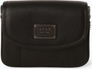 Brązowa torebka DKNY mała ze skóry