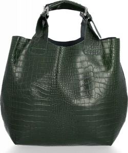 Zielona torebka VITTORIA GOTTI z tłoczeniem do ręki duża