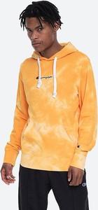 Pomarańczowa bluza Champion w młodzieżowym stylu z polaru