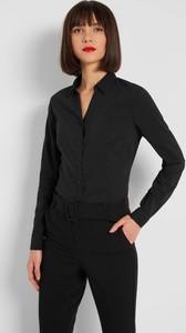Czarna koszula ORSAY z długim rękawem z tkaniny