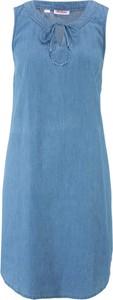 Sukienka bonprix John Baner JEANSWEAR bez rękawów w stylu casual mini
