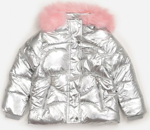 Srebrna kurtka dziecięca born2be z polaru