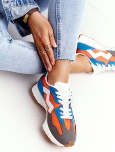 Buty sportowe Ps1 z płaską podeszwą z zamszu sznurowane