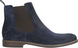 Granatowe buty zimowe Wojas ze skóry